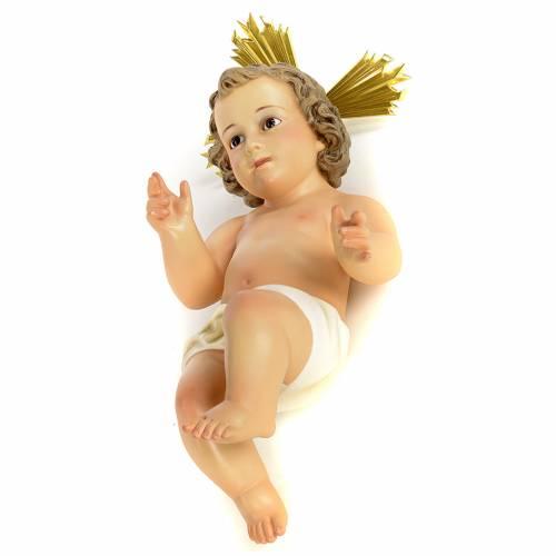 Niño Jesús con aureola 40cm pasta de madera dec. f s1
