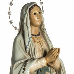 Notre Dame de Lourdes pâte à bois yeux en cristal s3