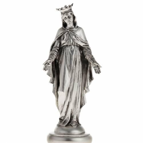 Notre Dame du Liban resina color metallo 16 cm s1
