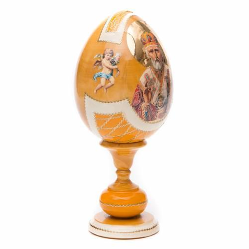 Oeuf découpage russe Saint Nicolas h 20 cm style Fabergé s3