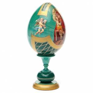 Oeuf découpage Russie Pochaevskaya h 20 cm style Fabergé s4