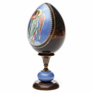 Oeuf icône découpage Russie Ange Gardien h 20 cm s2