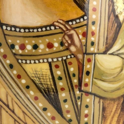 Oeuf icône Russie Vierge de Kazan ton sur ton s4