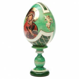 Oeuf Russie découpage Feodorovskaya h 20 cm style Fabergé s2