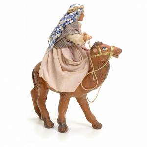 Old lady on Camel, 8cm for Neapolitan Nativity s2