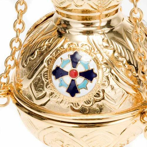 Orthodox style cross thurible s3