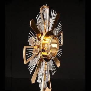 Ostensoirs, Reliquaires  en métal: Ostensoir décoré avec vigne