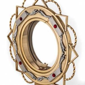 Ostensoirs, Reliquaires  en métal: Ostensoir doré avec décors en argent