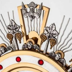Ostensoirs, Reliquaires  en métal: Ostensoir hostie magne, décoré avec vigne