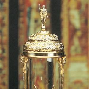 Ostensorio ambrosiano cilindrico argentato dorato s2