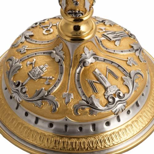 Ostensorio ottone cesellato bicolore con putti s6