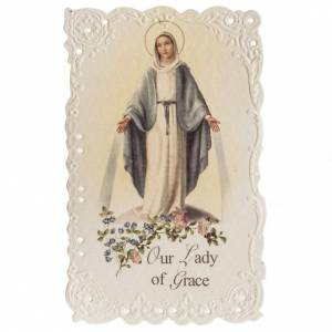 Holy cards: Our Lady of Grace holy card with prayer in ENGLISH