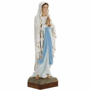 Our Lady of Lourdes statue, 85cm in painted reconstituted marble s2