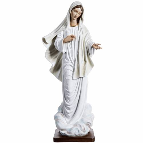 Our Lady of Medjugorje statue in painted fiberglass, 130cm s1