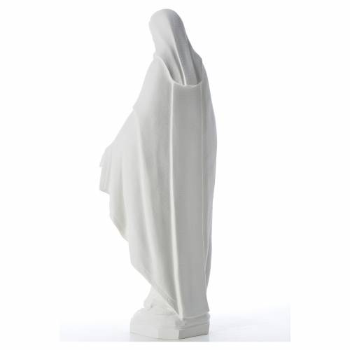 Our Lady of Miracles, 62 cm in reconstituted Carrara marble s3