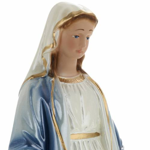 Our Lady of Miracles pearlized plaster statue, 20 cm s2