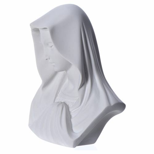 Our Lady, reconstituted carrara marble bust, 16 cm s3