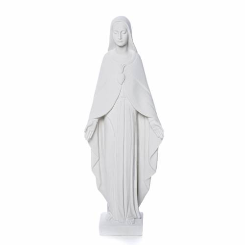 Our Lady statue in reconstituted carrara marble 36 cm s1