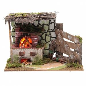 Fireplaces and ovens: Oven with flame effect lamp 20x15x30 cm