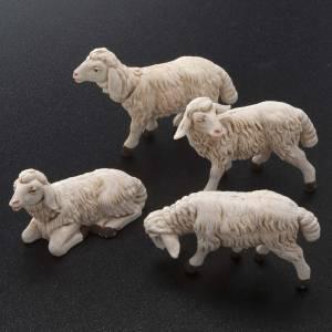 Zwierzęta do szopki: Owce szopka plastik różne 4 szt 12 cm