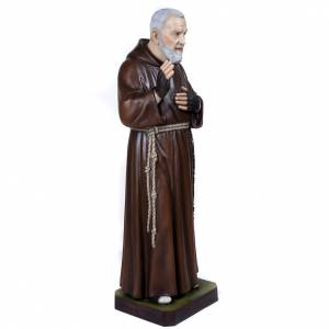 Padre Pio of Petralcina statue, 110 cm in painted marble dust s7