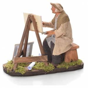 Painter with easel, Neapolitan Nativity 12cm s3
