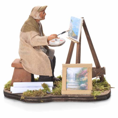 Painter with easel, Neapolitan Nativity 12cm s1