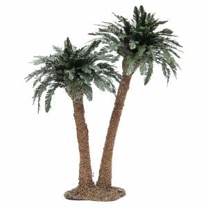 Muschio, licheni, piante, pavimentazioni: Palma doppia h. reale 32 cm struttura in resina