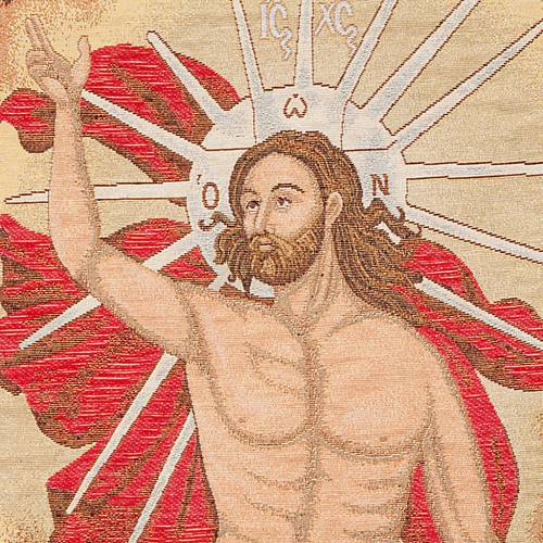 Paño de atril con Cristo resuscitado con angeles s4