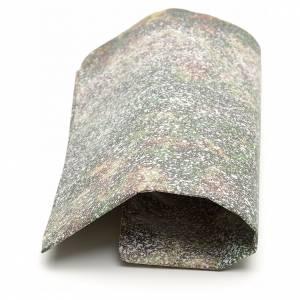 Papier rocher enneigé crèche 70x100 cm s2