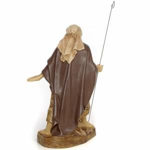 Pastor brazos abiertos 20cm pasta de madera dec. antigua s3