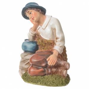 Pastor meditando para belenes de 30cm, resina s2