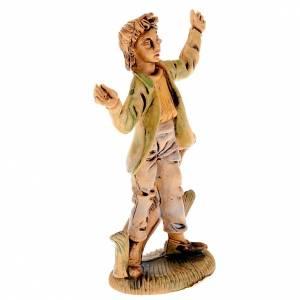 Figuras del Belén: Pastor sorprendido 8 cm.