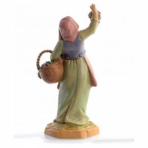 Pastora con uvas 12 cm Fontanini s2