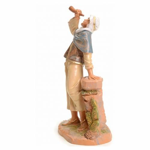 Pastore con corno 19 cm Fontanini s2
