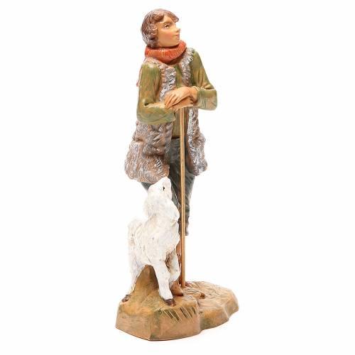 Pastore con pecora per presepe 19 cm Fontanini s4