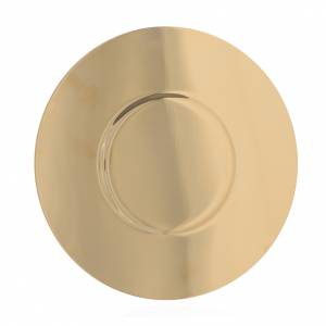 Paten in gold-plated shaped brass, 16cm s2