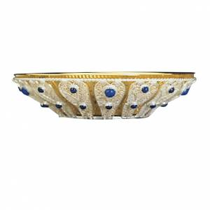 Paten with silver filigree and blue glass stones s1