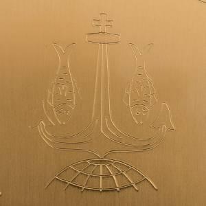 Patena de latón lisa grabada, diámetro 15cm s5