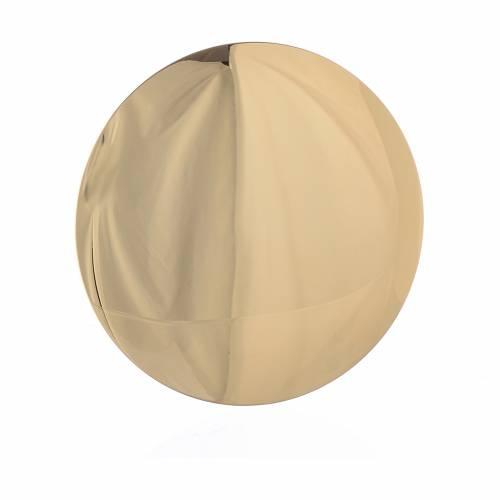 Patena ottone dorato cm 14 incisione Agnus Dei s2