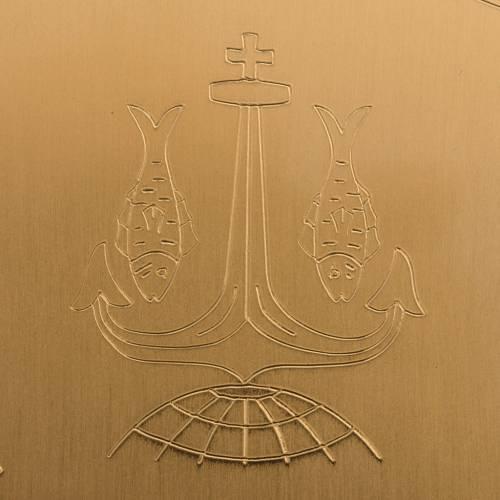 Patène laiton doré lisse gravée 15cm s5