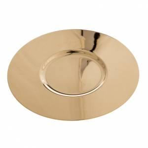 Patène laiton doré lucide fond modelé 15cm s1