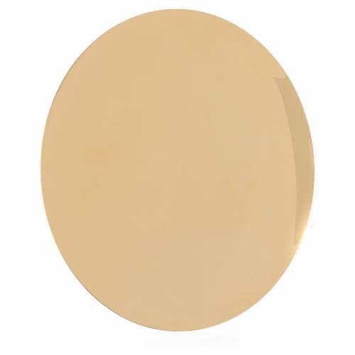 Patène laiton lisse brillant diam 25 cm s2