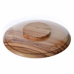 Calices Ciboires Patènes bois d'olivier: Patène olivier Terre Sainte