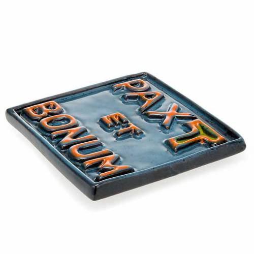 Pax et Bonum small ceramic basrelief s3