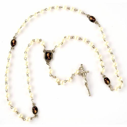 Pearled rosary with images (20 diam) s3