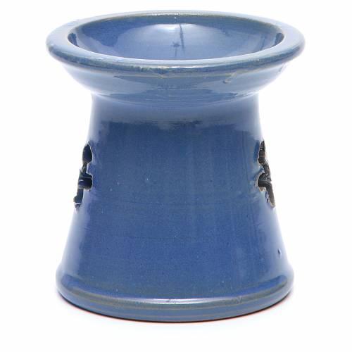 Pebetero vela terracota azul s3