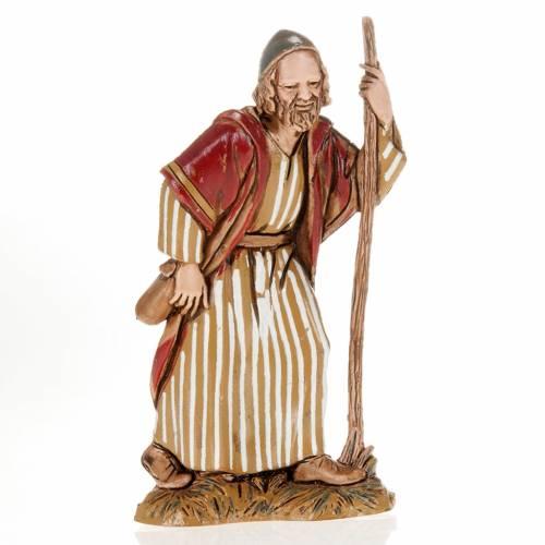 Pèlerin avec bâton crèche Moranduzzo 10 cm s1