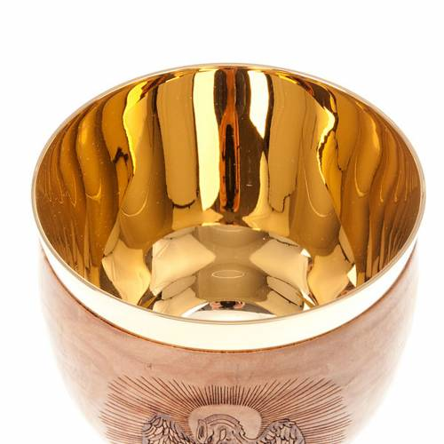 Olive wood engraved chalice 5