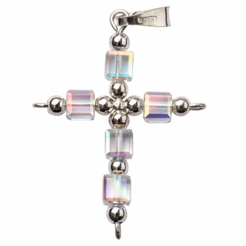 Pendant cross, cubic Swarovski crystal s1